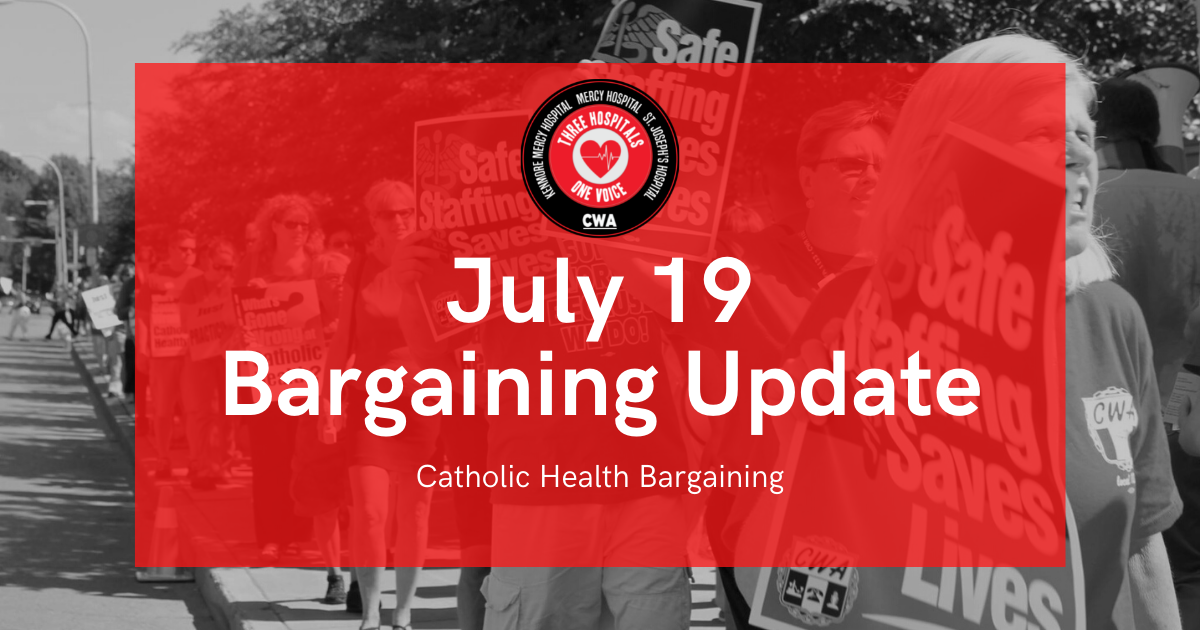 """Graphic with """"July 19 Bargaining Update"""" text"""